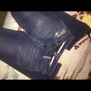 """amethyst jeans"" straight leg jeans"